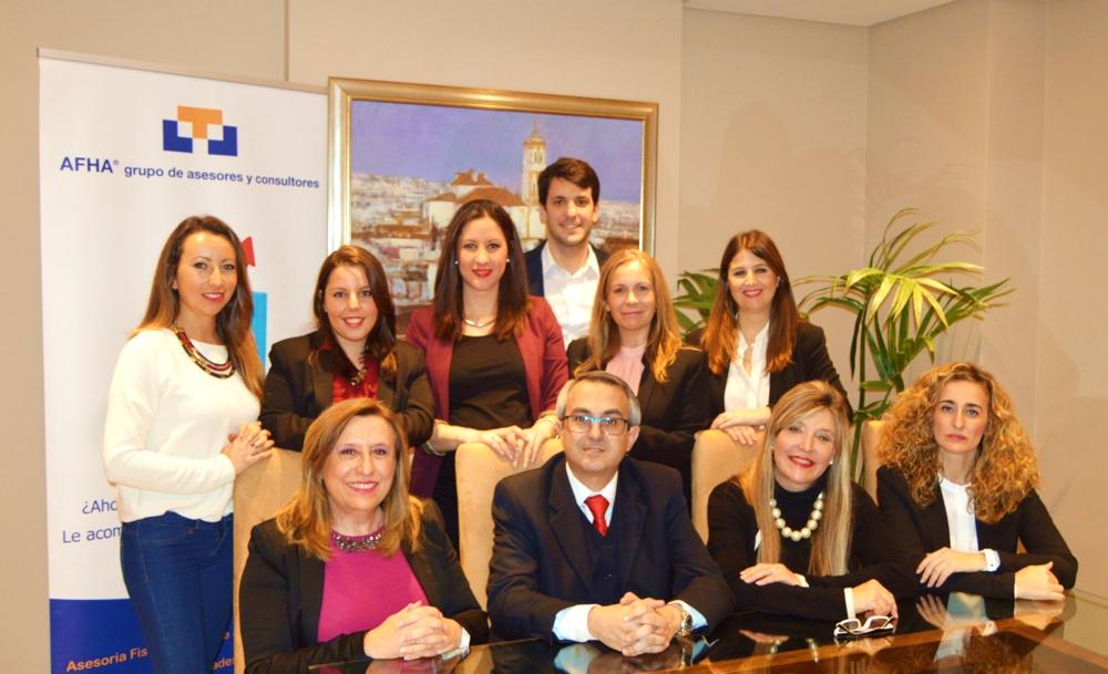 Imagen de los miembros del Grupo Afha